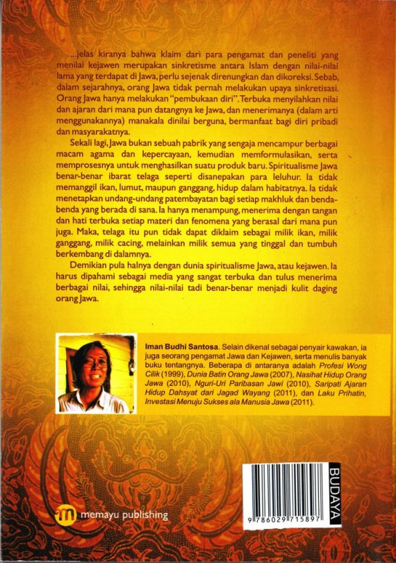 Buku SPIRITUALISME JAWA - Iman Budhi Santosa