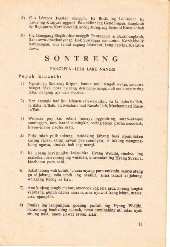 Halaman 13 buku KIDUNGAN JANGKEP disusun oleh R. Tanoyo.