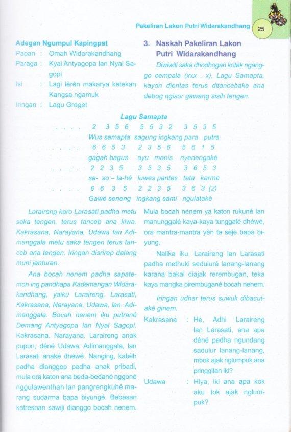 Naskah sandiwara wayang di buku MENGENALKAN WAYANG KEPADA ANAK. JILID 2 -  Junaidi.