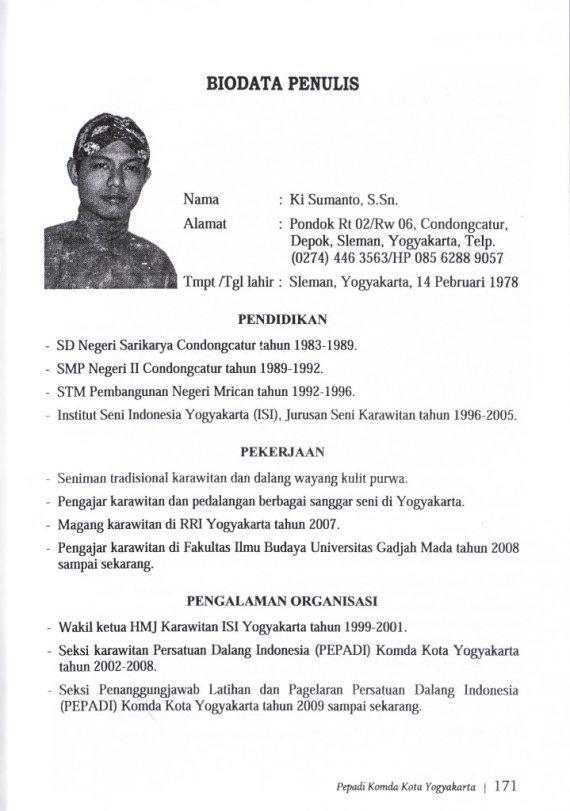 Profil Penulis Ki Sumanto