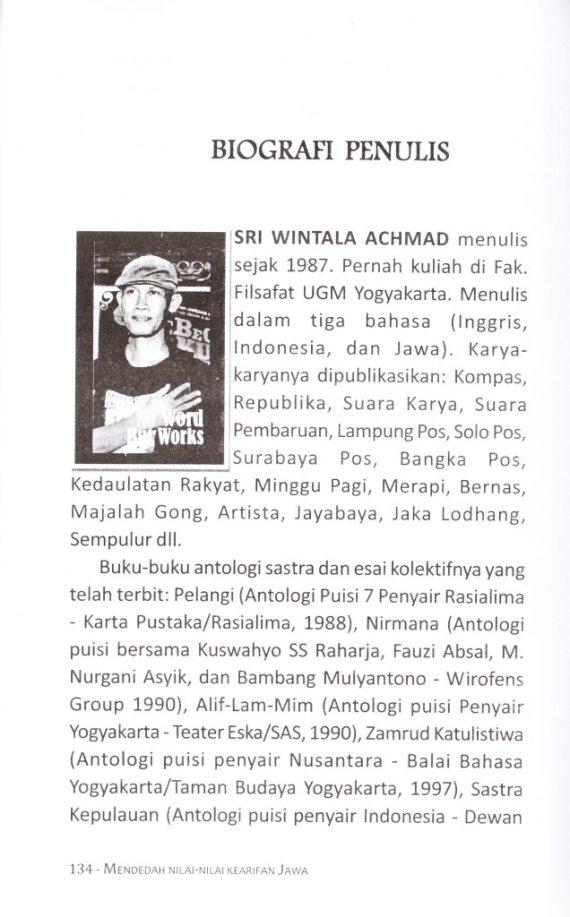 Profil Penulis SRI WINTALA ACHMAD.