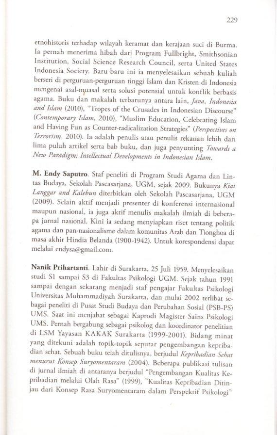Profil Penulis  M ENDY SAPUTRO,  NANIK PRIHARTANTI.