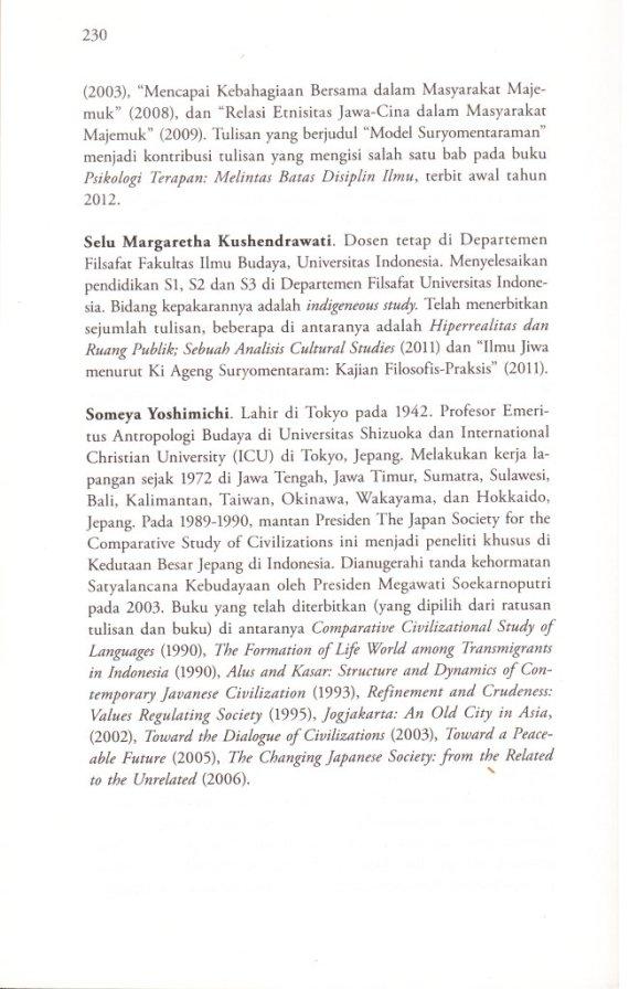 Profil Penulis  SELU MARGARETHA KUSHENDRAWATI,  SOMEYA YOSHIMICHI.