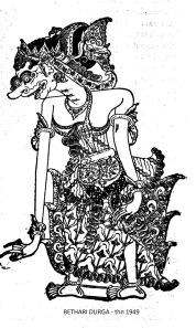 Wayang Kulit Purwa Jawa -DURGA (BATHARI) - thn 1949