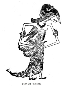 Wayang Kulit Purwa Jawa - SRI (DEWI) - tahun 1949.