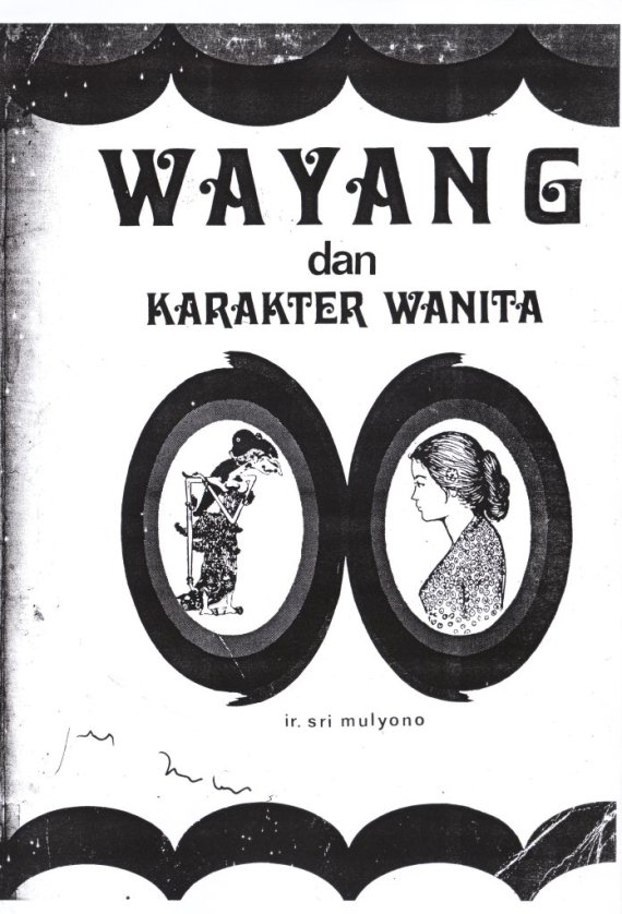 Buku WAYANG DAN KARAKTER WANITA - Sri Mulyono.