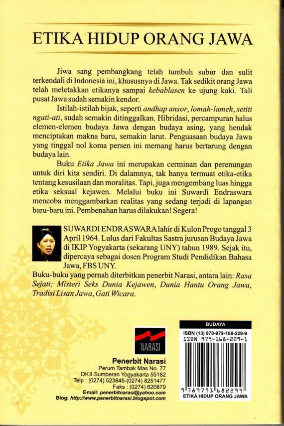 Buku ETIKA HIDUP ORANG JAWA - Suwardi Endraswara