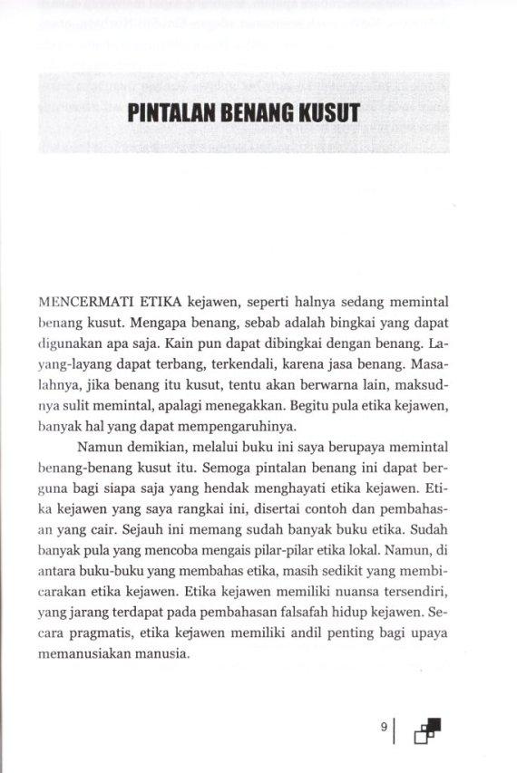 Pengantar ETIKA HIDUP ORANG JAWA - Suwardi Endraswara