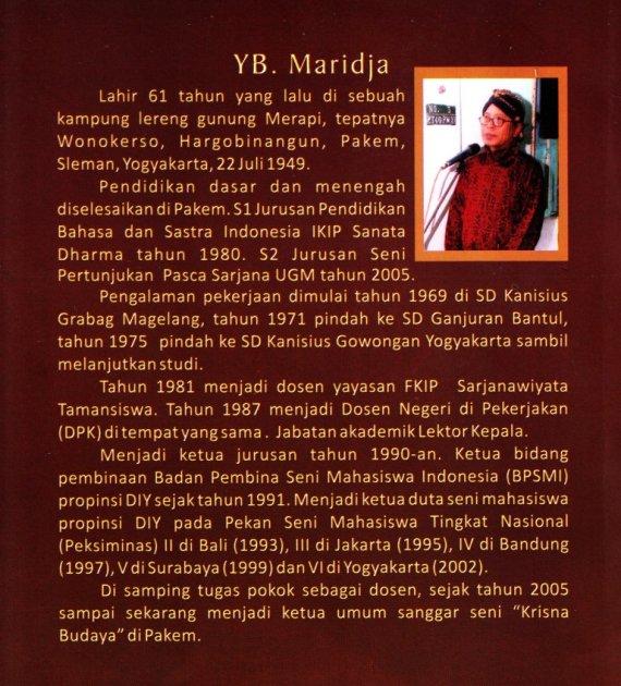Profil Penulis YB Maridja