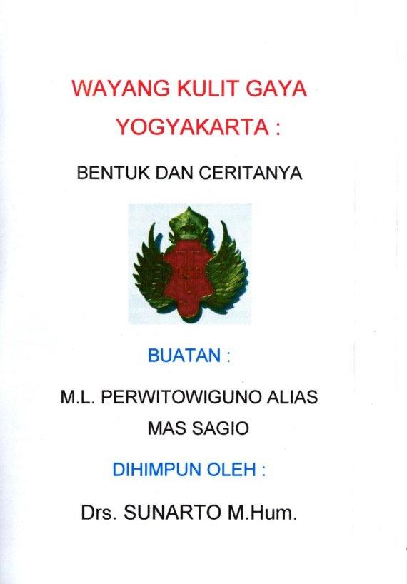 Buku WAYANG KULIT GAYA YOGYAKARTA - Sagio.