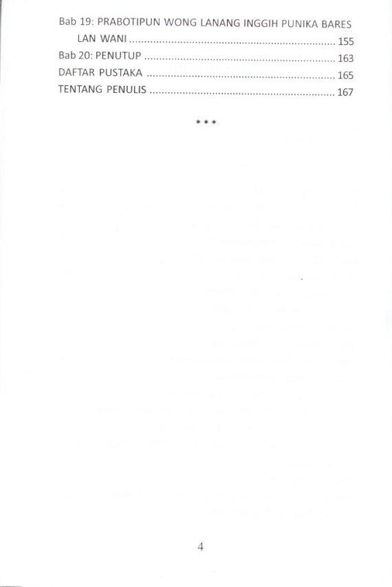 Daftar Isi Buku SUGIH TANPA BANDHA VS ILMU KANTHONG BOLONG - Mohammad A Syuropati.