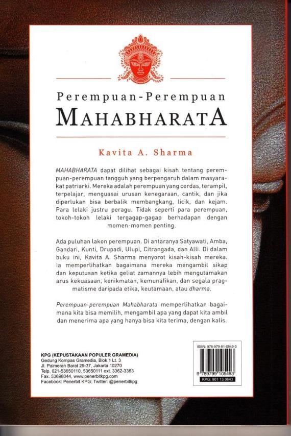 Cvr Blk Perempuan Mahabharata- Kavita Sharma cmprs