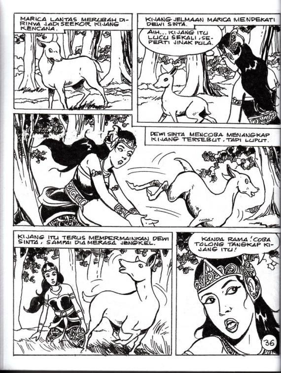 Contoh halaman komik RAMAYANA oleh Ruhiyat S.
