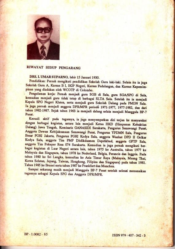 Riwayat hidup penulis Umar Suparno, I.