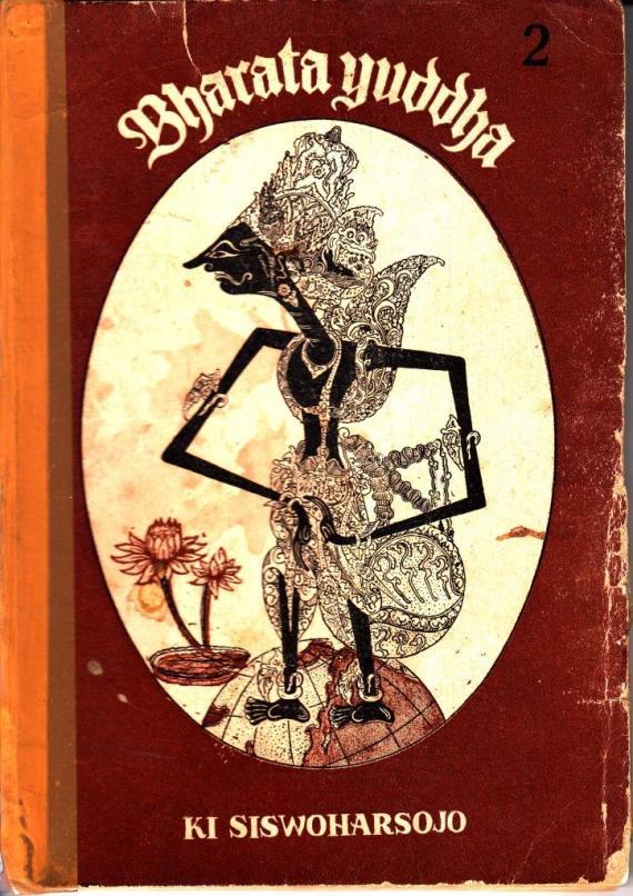 Sampul depan buku Bharata Yuddha jilid 2 oleh Ki Siswoharsojo
