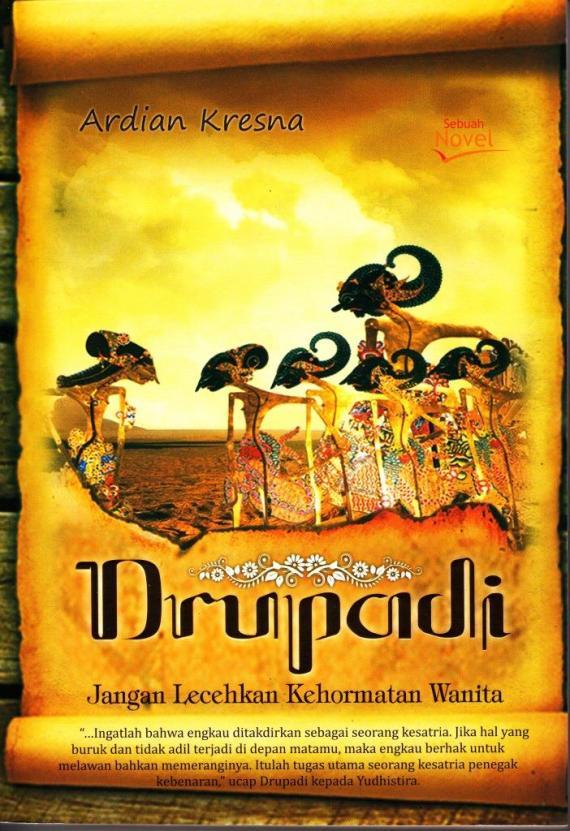 Sampul novel wayang DRUPADI oleh Ardian Krisna.