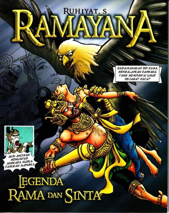 Sampul komik wayang RAMAYANA oleh Ruhiyat