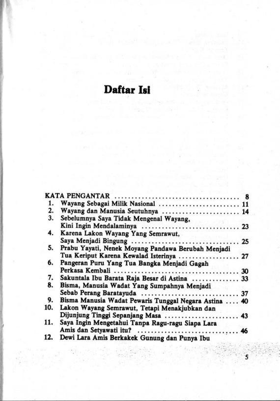 Dftr Isi 1 Wayang & Karakter Manusia 2- Sri Mulyono cmprs