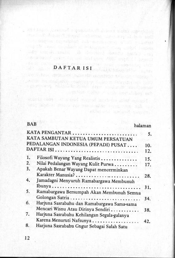 Dftr Isi 1 Wyng & Karakter Mnsia 1- Sri Mulyono cmprs