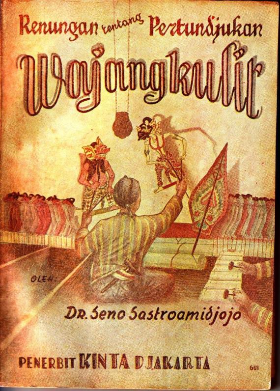 Sampul buku RENUNGAN TENTANG PERTUNJUKAN WAYANG oleh Seno Sastroamidjojo