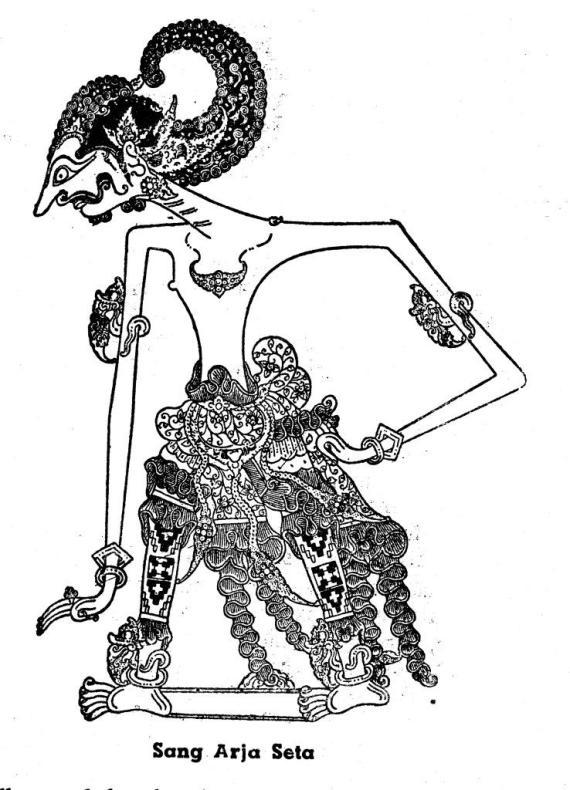 Gambar wayang kulit purwa resolusi tinggi SETA dari buku tahun 1950-an.