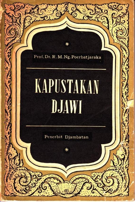 Sampul buku KAPUSTAKAN DJAWI oleh Poerbotjaraka