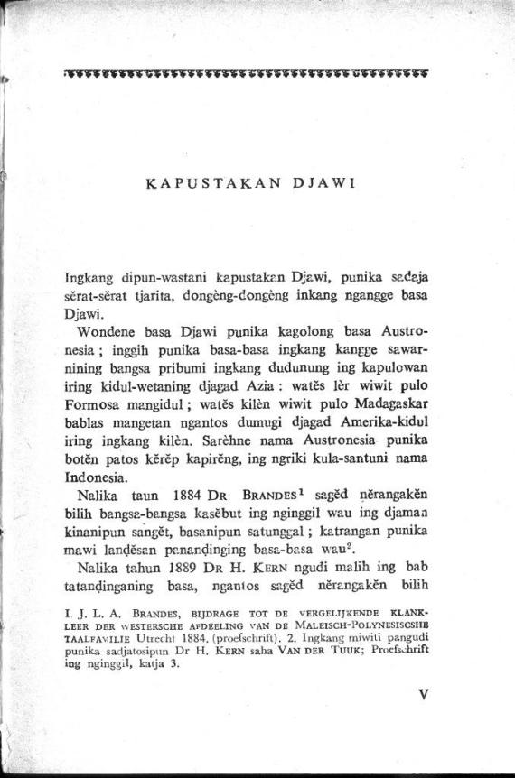 Pengantar buku KAPUSTAKAN DJAWI oleh Poerbotjaraka