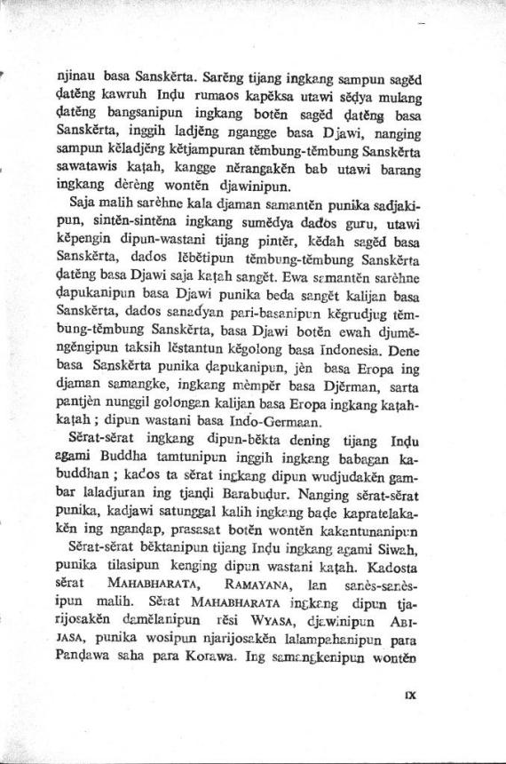 Pengantar halaman 5 dari buku KAPUSTAKAN DJAWI - Poerbatjaraka