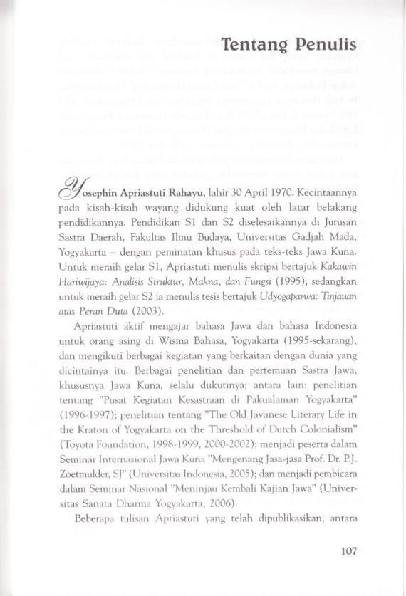 Profil penulis Apriastuti Rahayu.