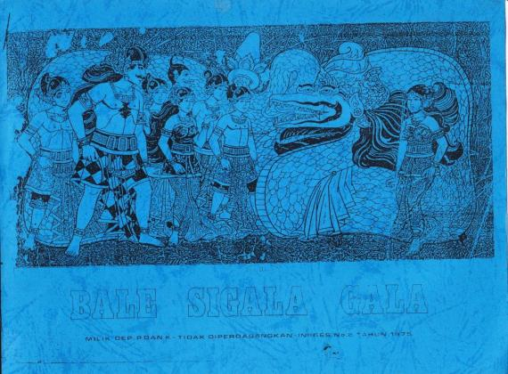Sampul buku cerita wayang bergambar BALE SIGALA GALA digambar oleh Ratmoyo, diceritakan oleh Abas.