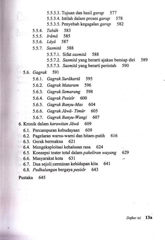 Daftar Isi buku SERAT KANDHA KARAWITAN JAWI oleh Bram Palgunadi.