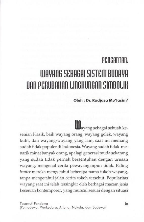 Pengantar 1 Tasawuf Pandawa- M Zaairul Haq cmprs
