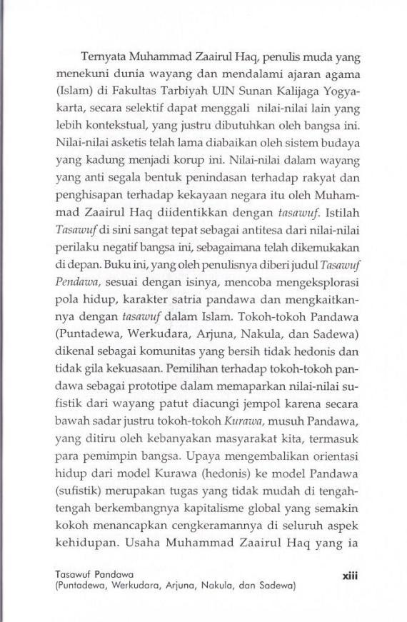 Pengantar 5 Tasawuf Pandawa- M Zaairul Haq cmprs