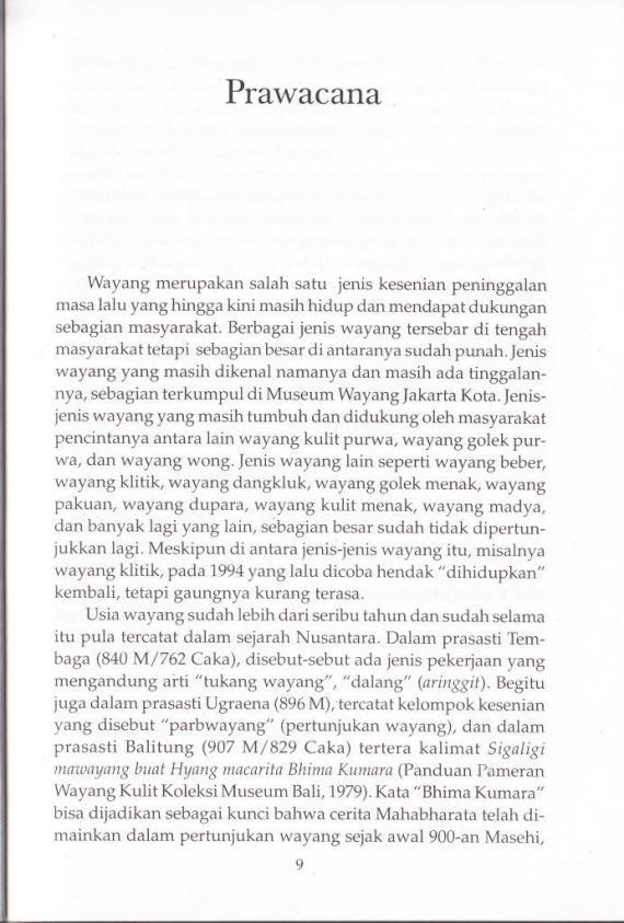 Prawacana buku WAYANG GOLEK SUNDA karya Jajang Suryana.