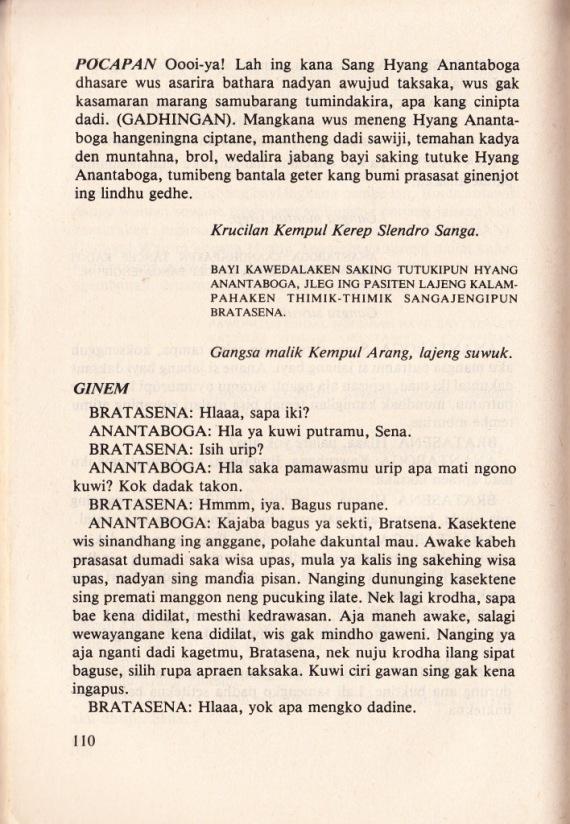 Halaman 110 SERAT WEWATON PADHALANGAN JAWI WETANAN jilid 2 oleh Soenarto Timoer