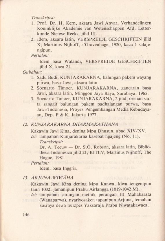 KAPUSTAKAN JAWI WETAN ING BABAGAN SASTRA PAWAYANGAN tulisan oleh Soenarto Timoer