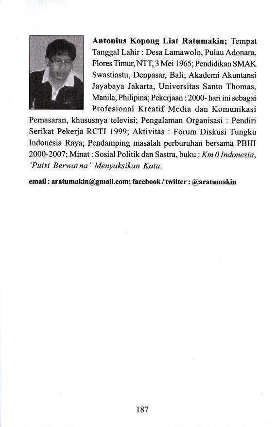 Profil Penulis Antonius Ratumakin