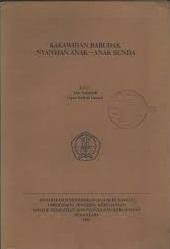 Buku KAKAWIHAN BARUDAK. NYANYIAN ANAK-ANAK SUNDA, Atik Soepandi (salah satu pengarangnya)