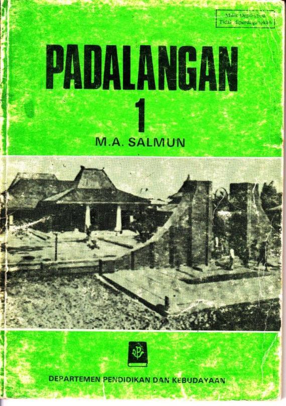 Buku PADALANGAN jilid 1 dalam bahasa Sunda karya MA Salmun.