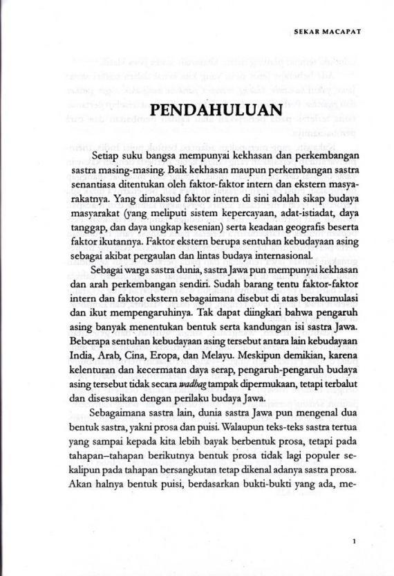 Bagian Pendahuluan buku SEKAR MACAPAT oleh Karsono H Saputra.