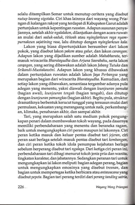 Bab Penutup di buku WAYANG WONG PRIANGAN karya Iyus Rusliana.