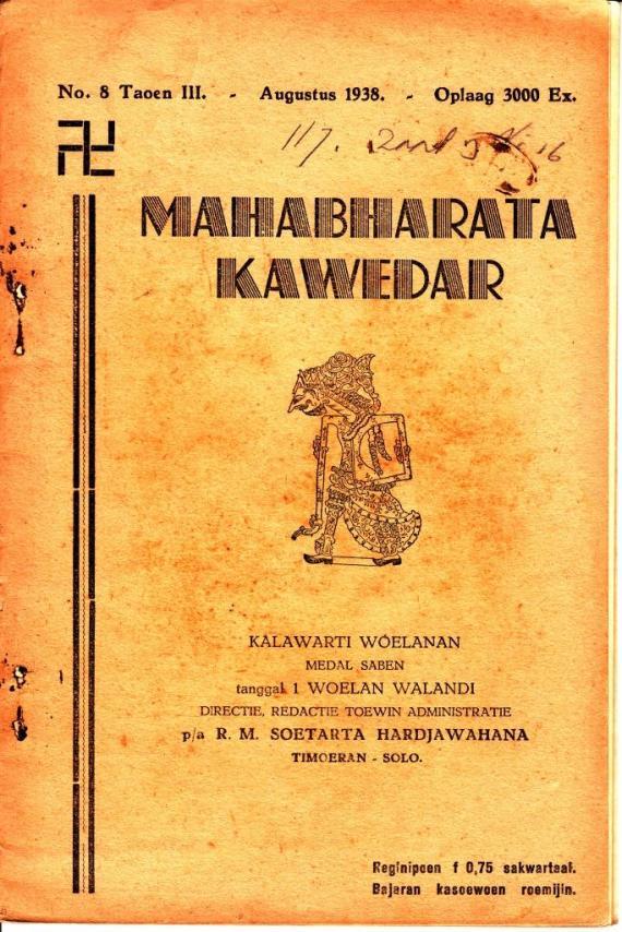 "ebook cerita wayang "" Mahabharata Kawedar no 08 Agustus 1938 "" karya R.M. Soetarta Hardjawahana."