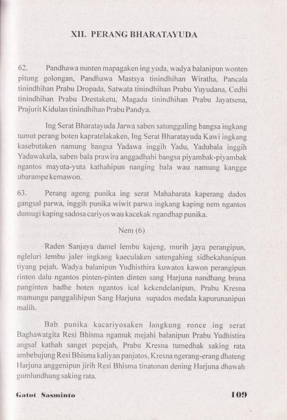 Halaman 109 buku BABAD PANDHAWA oleh Gatot Ssminto, penerbit CV Cendrawasih.