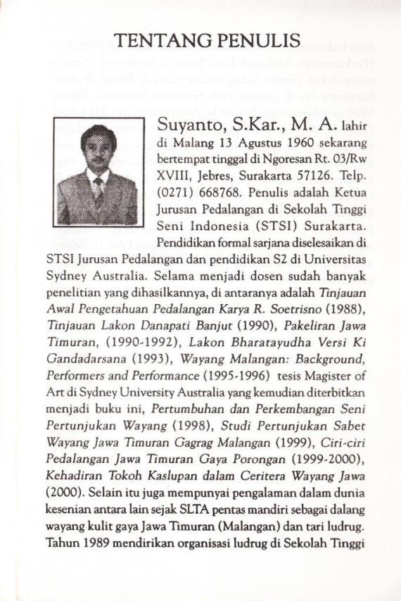 Profil Penulis : Suyanto