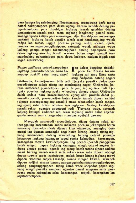 Halaman 327 MAHABHARATA KAWEDAR no. 11 Nopember 1938 karya RM Soetarta Hardjawahana