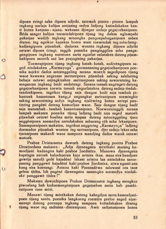 Hlm 83 Mahabharata Kawedar no 3 Mar 1939- Soetarta H cmprs