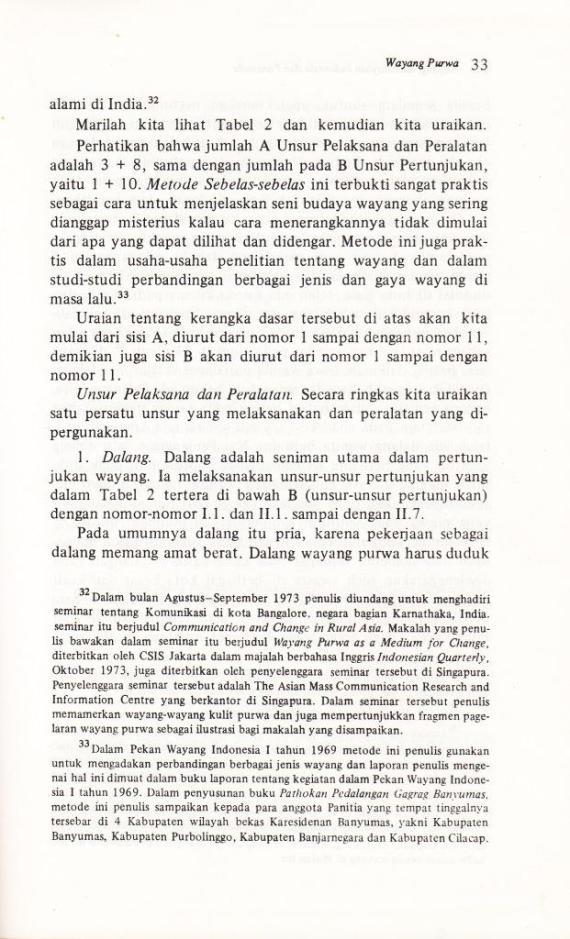 Halaman 33 buku WAYANG, KEBUDAYAAN INDONESIA DAN PANCASILA karya Pandam Guritno.