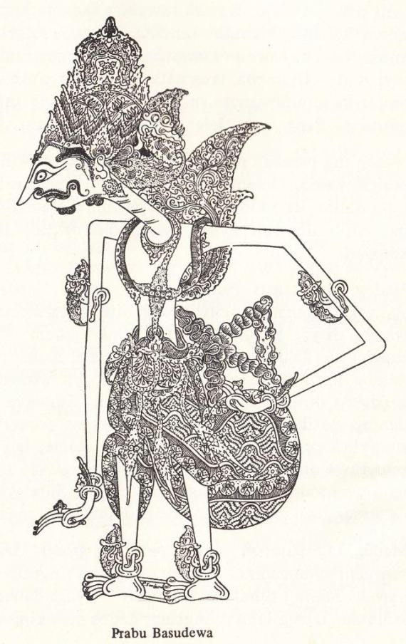 "Gambar wayang kulit purwa resolusi tinggi PRABU BASUDEWA dari "" Serat Pedhalangan Ringgit Purwa jilid VII "" - Mangkunagara VII KGPAA"