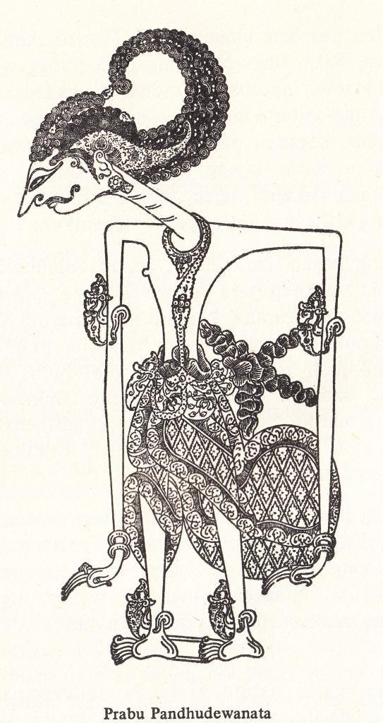 "Gambar wayang kulit purwa resolusi tinggi PRABU PANDUDEWANATA dari "" Serat Pedhalangan Ringgit Purwa jilid VII "" - mangkunagara VII KGPAA."