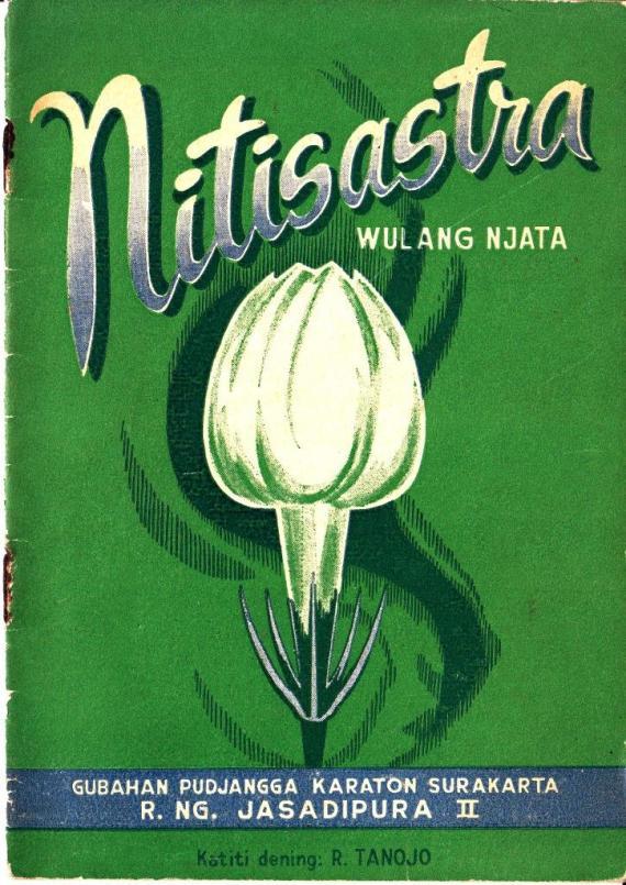Ebook NITISASTRA. WULANG NJATA oleh R. Tanojo, penerbit Trimurti, Surabaya.